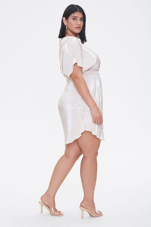 Plus Size Metallic Dolman Dress, image 2