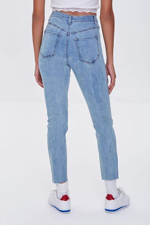 LIGHT DENIM Essential High-Rise Raw-Cut Jeans, image 4