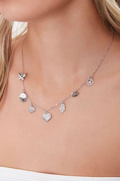 Assorted Rhinestone Charm Necklace, image 1