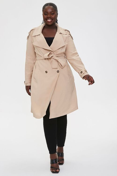Plus Size Double-Breasted Coat, image 4