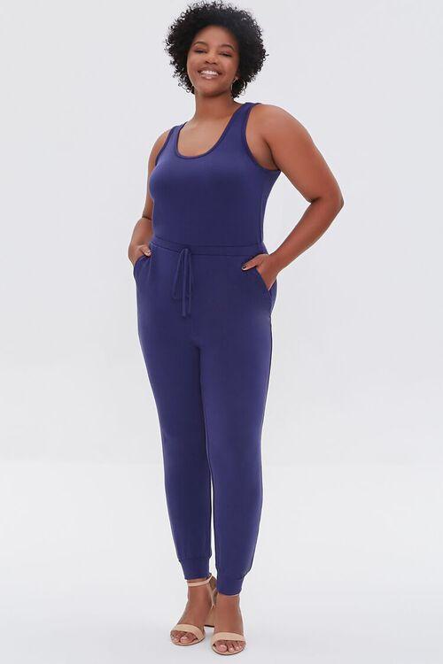 Plus Size Fleece Tank Jumpsuit, image 1