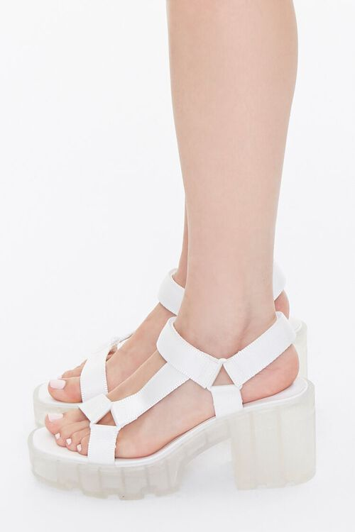 Semi-Transparent Platform Block Heels, image 2