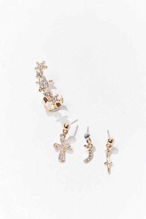 Ear Crawler & Stud Earring Set, image 1