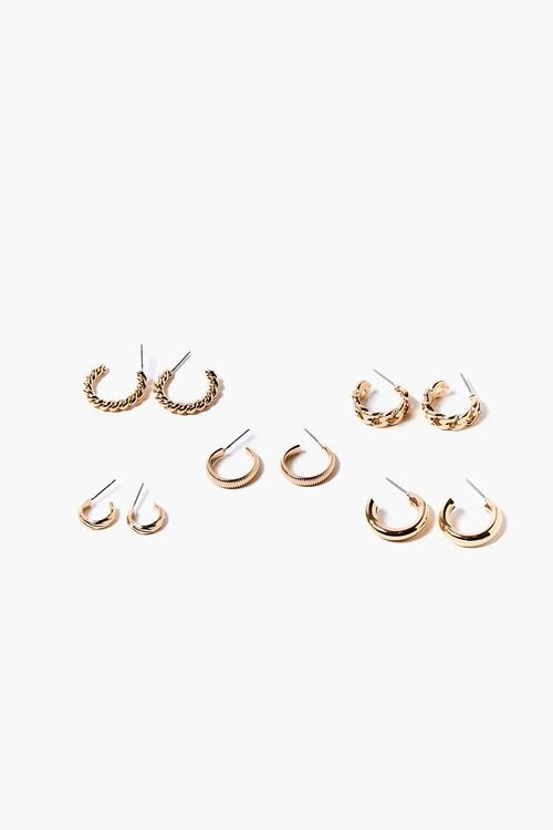 GOLD Small Hoop Earring Set, image 1