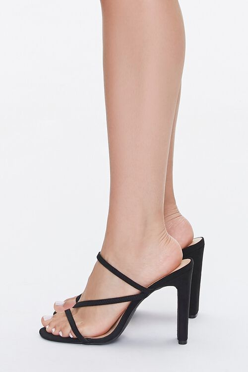 Faux Nubuck Strappy Heels, image 2