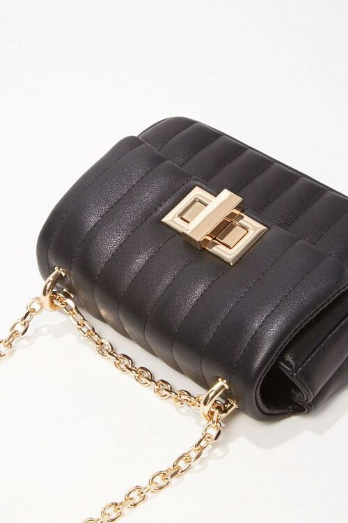 Quilted Faux Leather Crossbody, image 3