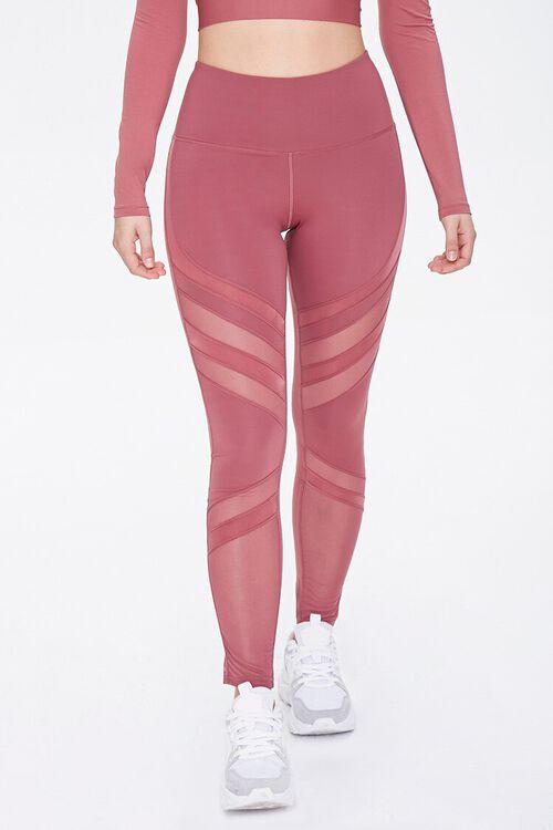 Active Diagonal-Striped Leggings, image 2