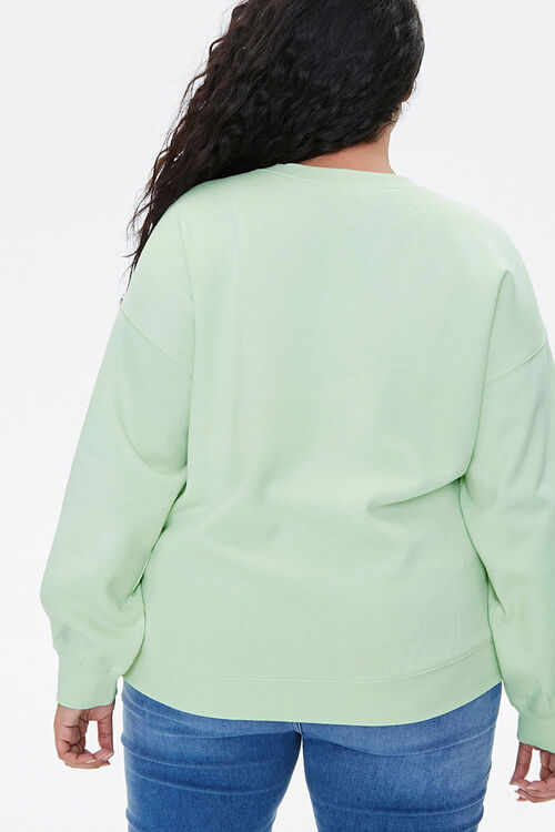 Plus Size Embroidered Fox Sweatshirt, image 3