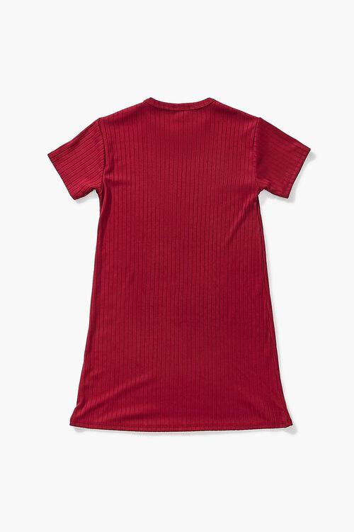 Girls Ribbed T-Shirt Dress (Kids), image 2