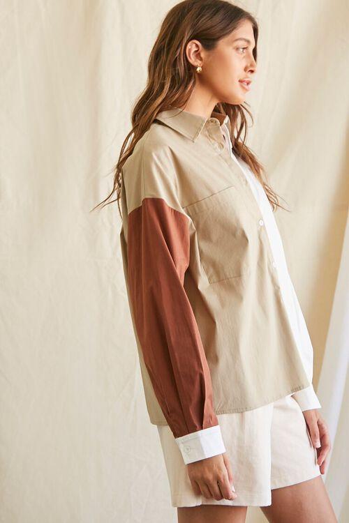 Colorblock Button-Up Shirt, image 4