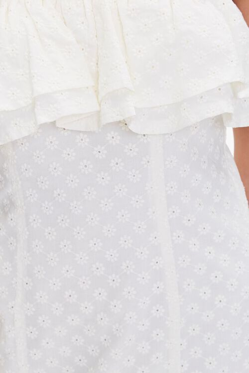 CREAM Eyelet Flounce Mini Dress, image 5