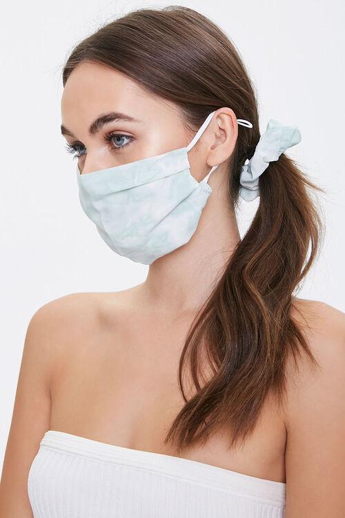 Tie-Dye Face Mask & Scrunchie Set, image 1