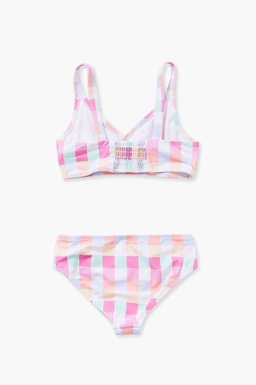 Girls Plaid Pattern Bikini (Kids), image 2
