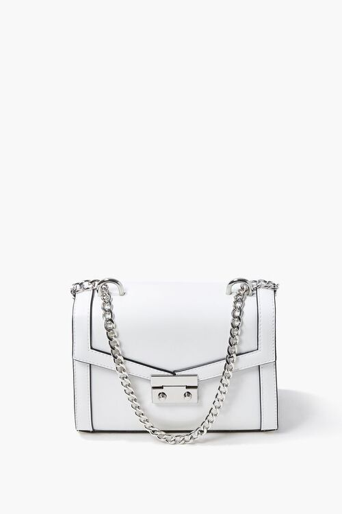 WHITE Structured Piped-Trim Crossbody Bag, image 2