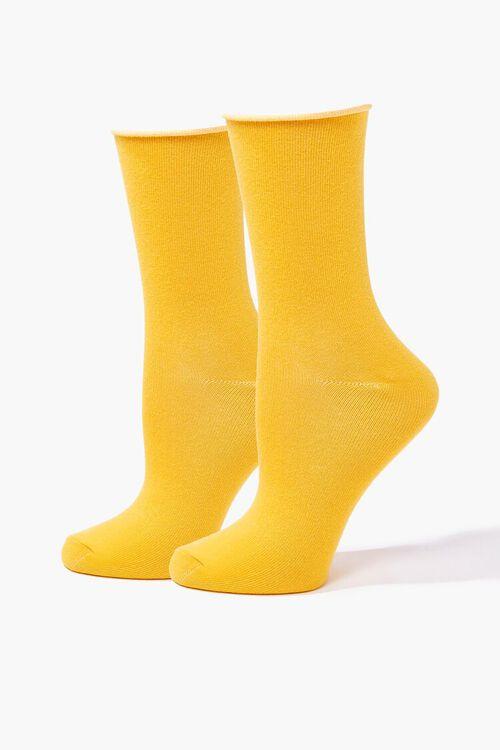 Rolled Trim Crew Socks, image 1