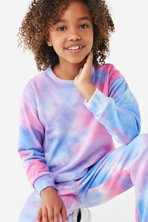 Girls Tie-Dye Sweatshirt (Kids), image 1