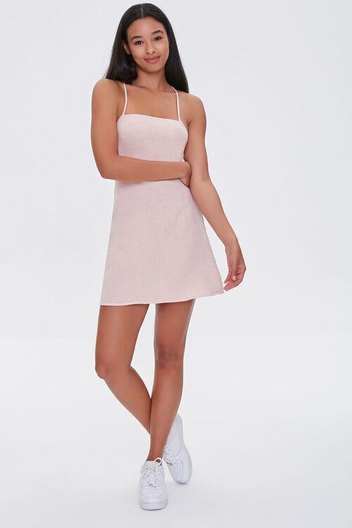BLUSH Crisscross-Back Mini Dress, image 4