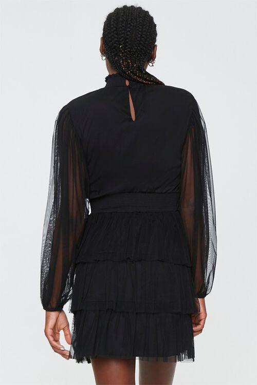 Tiered Mesh Mini Dress, image 3