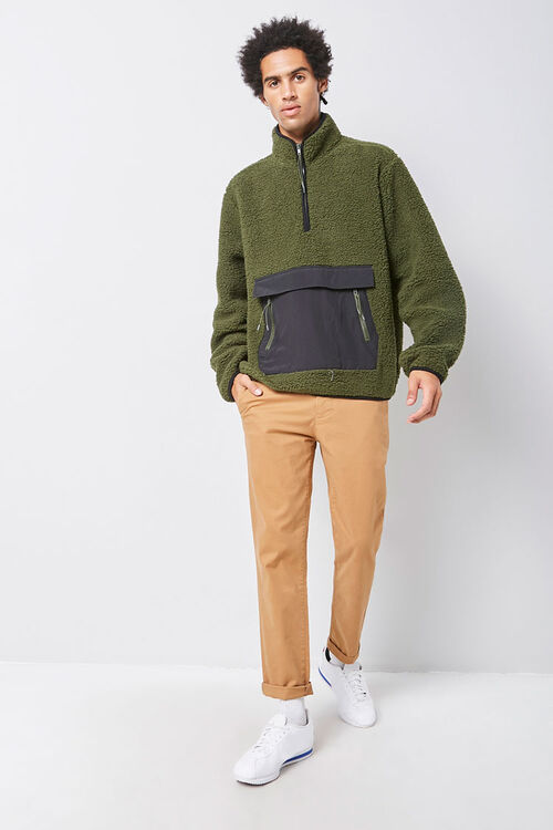 Faux Shearling Contrast-Pocket Anorak, image 4