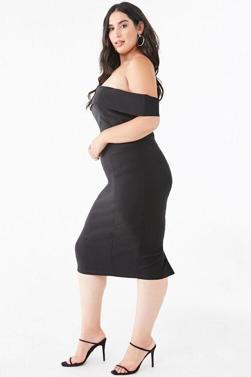 Plus Size Off-the-Shoulder Bodycon Dress, image 2