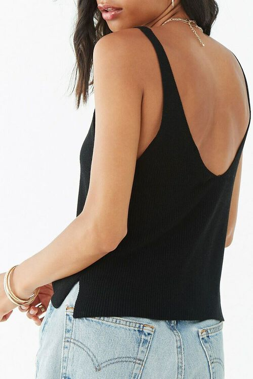 Ribbed Sweater-Knit Top, image 3
