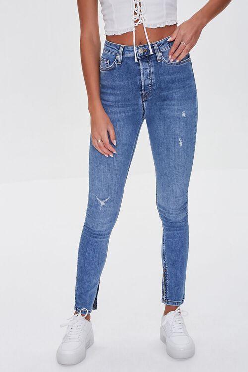 MEDIUM DENIM Premium High-Rise Skinny Jeans, image 2