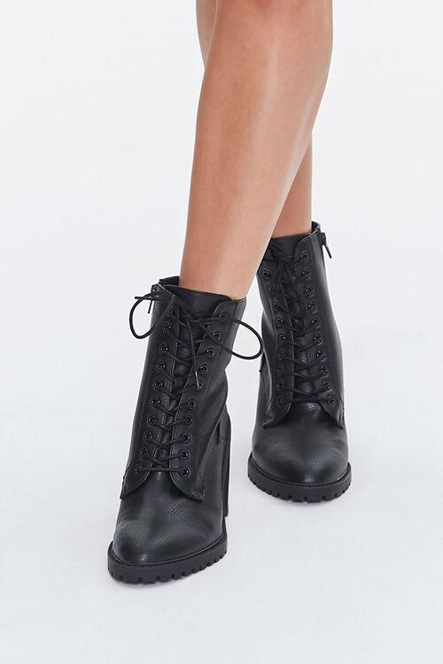 Lace-Up Block Heel Booties, image 4