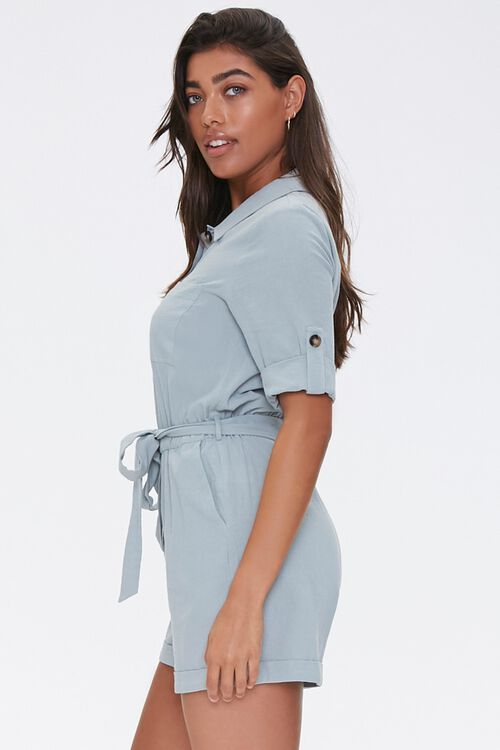 Cotton Button-Up Romper, image 2
