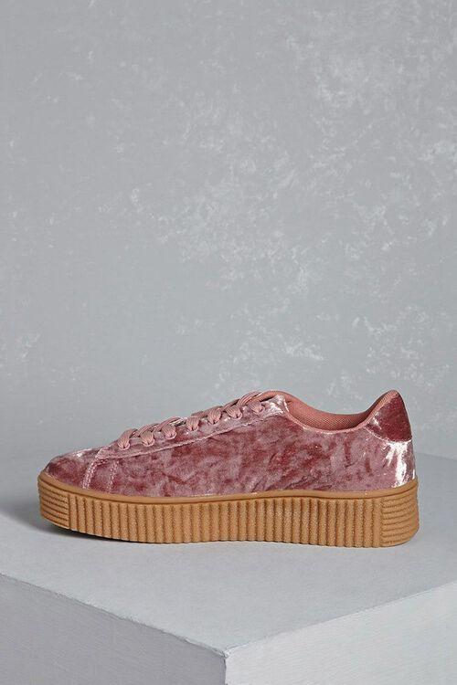 Crushed Velvet Platform Sneakers, image 2