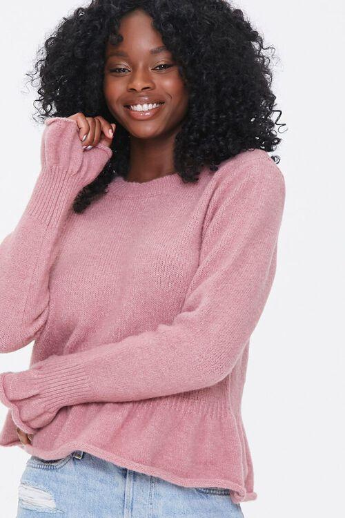Rolled Ruffle-Trim Sweater, image 1