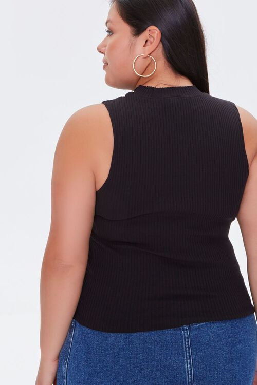Plus Size Ribbed Cropped Tank Top, image 3