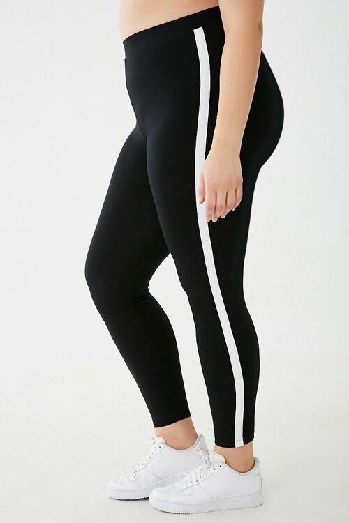 Plus Size Striped-Trim Leggings, image 3