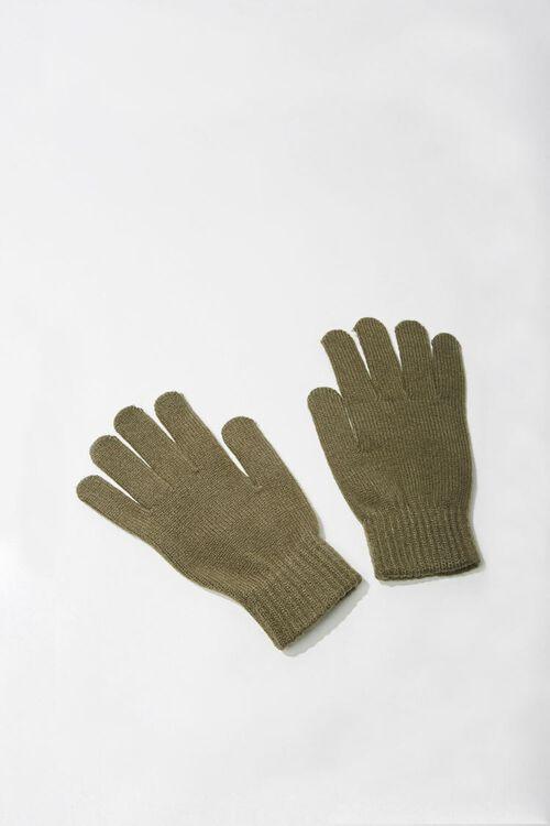 Men Ribbed-Trim Gloves, image 1