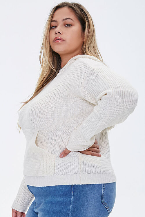 Plus Size Sweater-Knit Hoodie, image 2