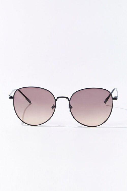 BLACK/BLACK Round Tinted Sunglasses, image 1