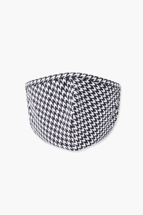 Houndstooth Print Face Mask, image 1