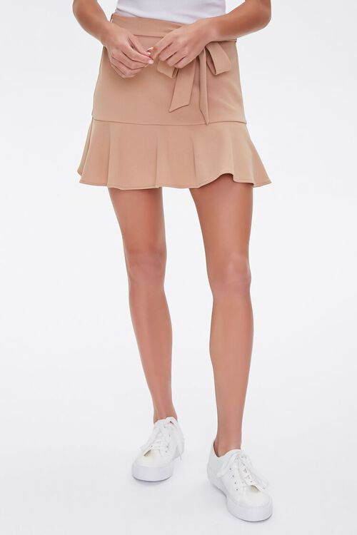 Flounce-Trim Mini Skirt, image 2