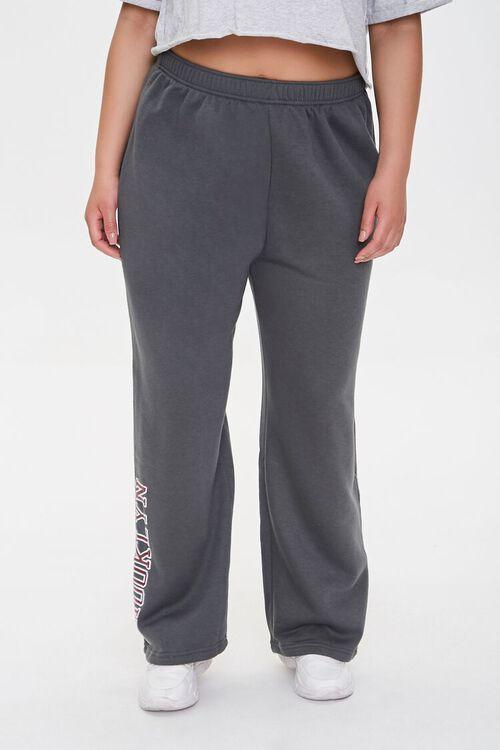CHARCOAL Plus Size Brooklyn Graphic Sweatpants, image 2