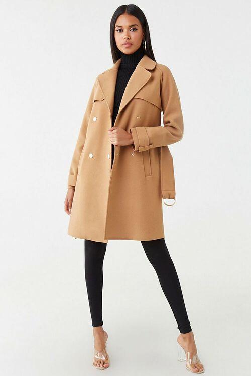 Brushed Double-Breasted Coat, image 4