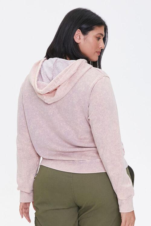 LAVENDER/MULTI Plus Size Floral Graphic Hoodie, image 3