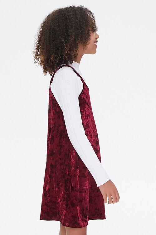 Girls Velvet Cami Dress (Kids), image 2