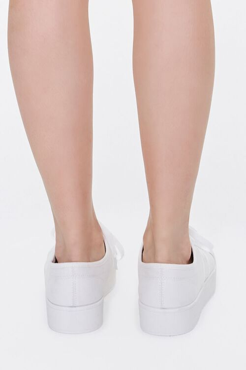 WHITE Lace-Up Low-Top Sneakers, image 3