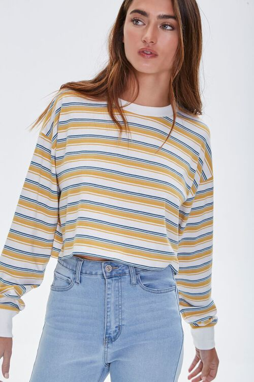 Striped Crop Top, image 1