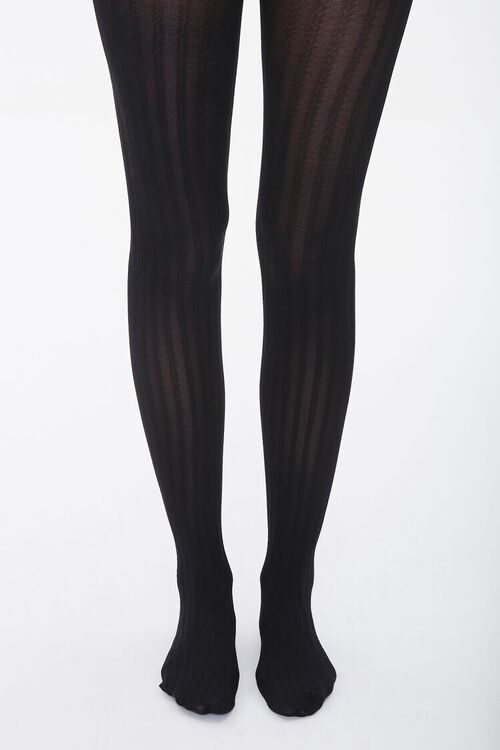 Opaque Ribbed Tights, image 4