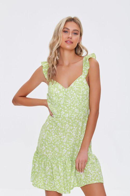 Floral Print Flounce Mini Dress, image 1