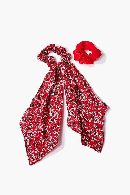 Paisley Bow Scrunchie Set, image 1