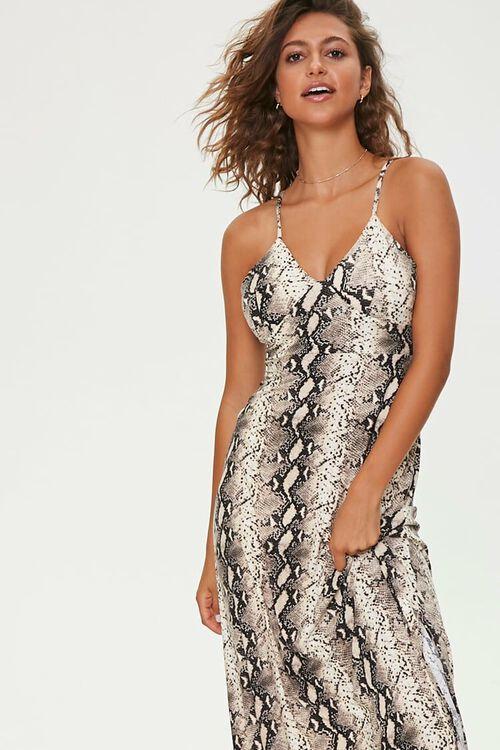 Snake Print Maxi Dress, image 4