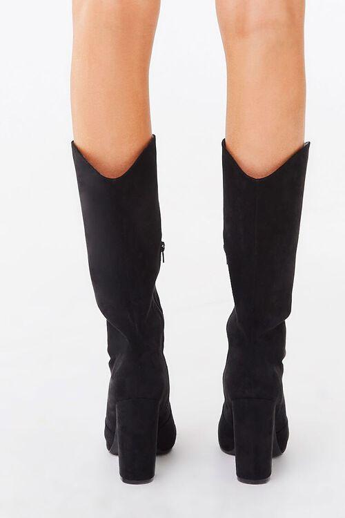 Faux Suede Block Heel Boots, image 4