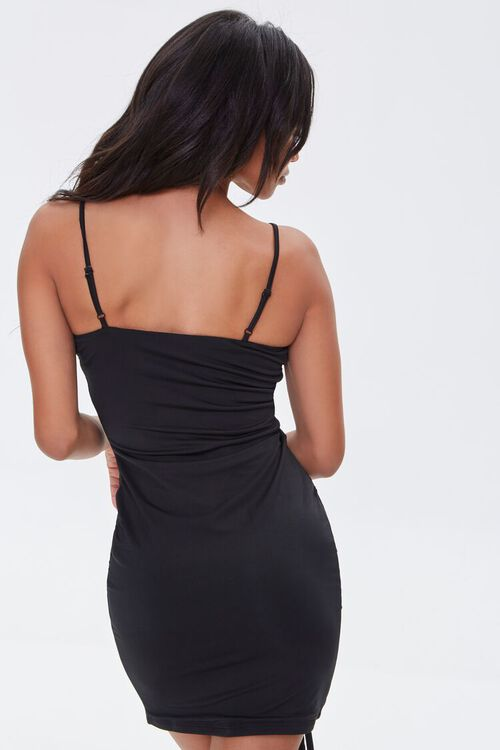 Ruched Drawstring Bodycon Dress, image 3