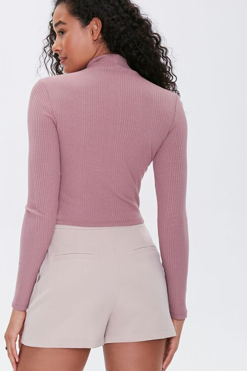 Ribbed Cutout Buttoned Top, image 3